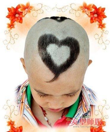 发型设计 儿童发型 >> 理发桃心怎么理 小宝宝桃心剪发型  这款心形图片