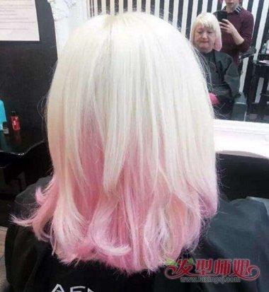 粉色头发怎么最快掉色 粉色头发掉色后图片