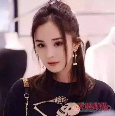 流行发型 刘海 >> 杨幂留过的龙须刘海图片 最好看龙须空气刘海  2018图片