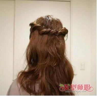 爱心头发型的过程 扎爱心头发图片步骤