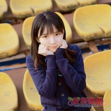 什么是m型刘海 女生m形刘海发型图片大全图片