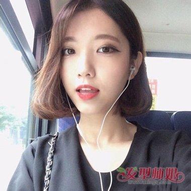 无刘海剪哪些短发最时髦 瓜子脸女生春天发型打造(5)图片