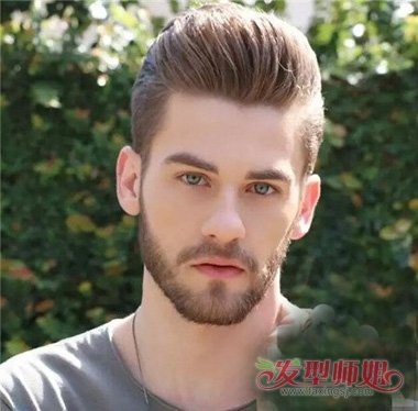 男生发型 男生短发 >> 头发油腻梳大背头帅到极致 四方脸男生最佳款