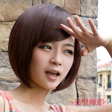 沙宣头女生头像_心形脸女生精剪短发沙宣头 发际线高如何处理鬓角部分