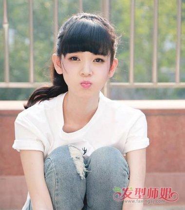 要清秀不要土气学生妹 校园女生潮范儿简约扎发集(3)图片