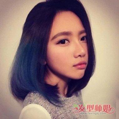 齐发尾适合直发还是卷发 长脸女生三七分发型打造(2)图片