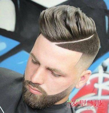 男生渐变式发型鬓角开到哪里更合适 剃短发最重要的边图片