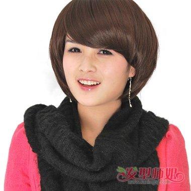 胖圆脸妹纸剪哪些刘海好看 两鬓角头发如何处理(3)
