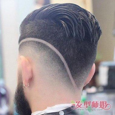 男生后脑勺扁如何剃发显帅气 直发与卷发你更偏于哪种图片