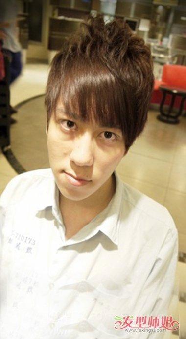 男生空气烫剪齐刘海造型 咖啡发色不同比例颜色(4)图片