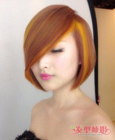 经典沙宣撞上一缕挑染 不是颜色多就能展现美_发型师姐图片