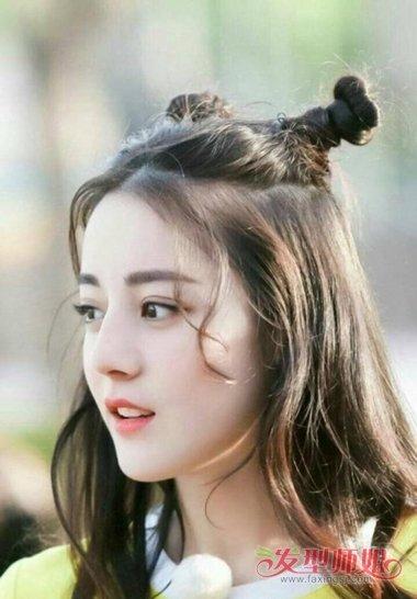 流行发型 刘海 >> 高个子女生剪龙须刘海 额头宽扎头发好看吗(2)  201图片