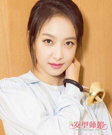 流行发型 刘海 >> 高个子女生剪龙须刘海 额头宽扎头发好看吗(4)图片