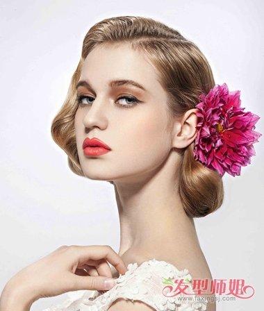 新娘盘发一种鲜花就能完美 夏季新娘鲜花盘发精品集