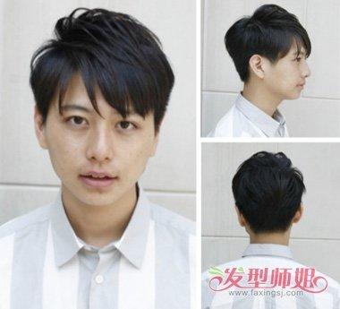 圆脸男生剪出的 短发,英俊帅气完美体现出来,后脑勺头发更是精心制作图片