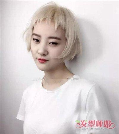 大方脸女生适合剪狗啃刘海造型吗 染哪些发色衬托皮肤皙白