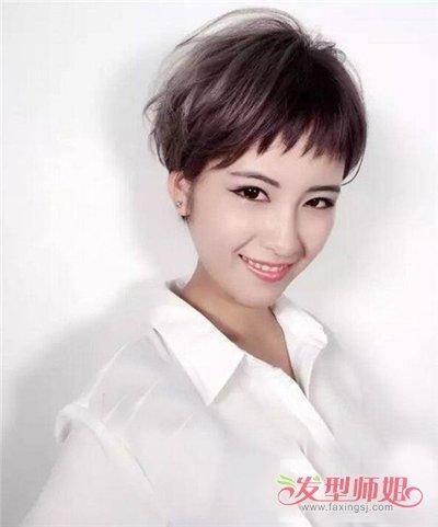大方脸女生适合剪狗啃刘海造型吗 染哪些发色衬托皮肤图片