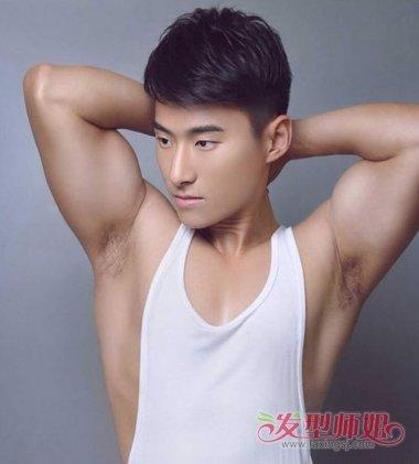 健气男生怎么梳发型更适合运动 2018潮男中短发助颜挥汗时刻图片