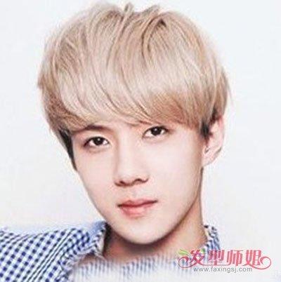 鹅蛋脸男生烫微卷头发造型 什么样的刘海能够打理出帅气图片