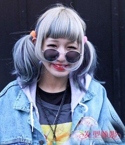 方脸女生怎么样扎高马尾辫 银灰发色如何打理才能时尚