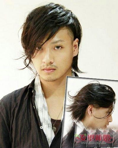 日本男生烫卷哪些头发好看 后脑勺头发剪短瘦脸男发型图片