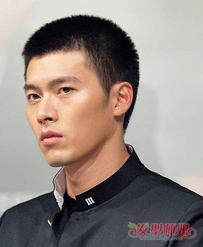 男生短头发无刘海帅气发型呈现图片