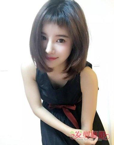 女生剪狗啃刘海适合哪些脸型 头发短染何种发色显潮流