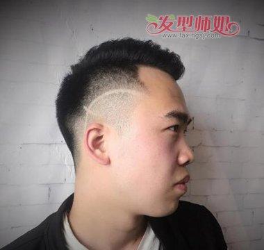 2018男生头发雕刻十字架图案发型pick 今夏男生不可错过的超酷刻痕图片
