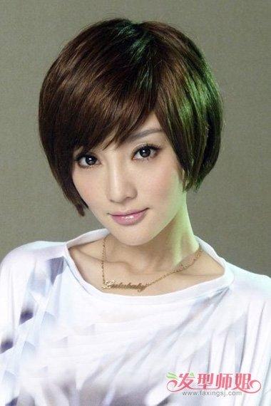 女生后面头发掏空大秀美感时尚发型 提升潮流度短发造型展示图片