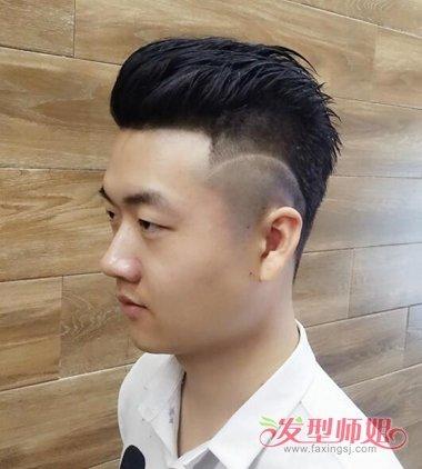 头发短发质硬还能梳背头么 短头发做背头加点油更容易图片
