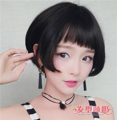 超个性复古齐耳短发显萌范儿 学生齐耳波波头发型就是图片