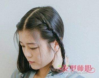 不用假发短发妹子也能梳汉服发型 一款简单好学的短发女生汉服发型