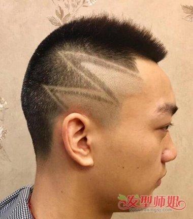 理寸头的校园男孩超酷的 学生刻痕寸头发型图片男友力图片
