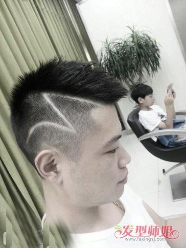男生头发侧面雕刻z图案发型 刻痕个性发型需要掌握住的技巧图片