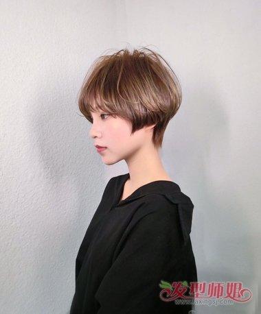 女生短头发剪空气图片