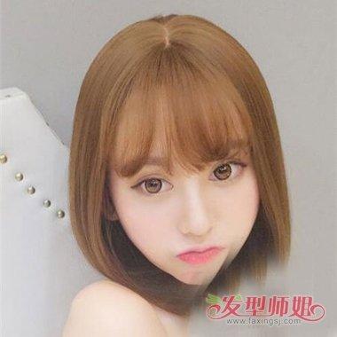 做个普通学生头内扣发需要多少钱 女生齐肩头发能剪成图片