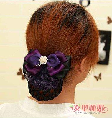 有碎发的女孩子,怎么用网兜固定发髻,才能让头发不会透过网兜漏出来图片