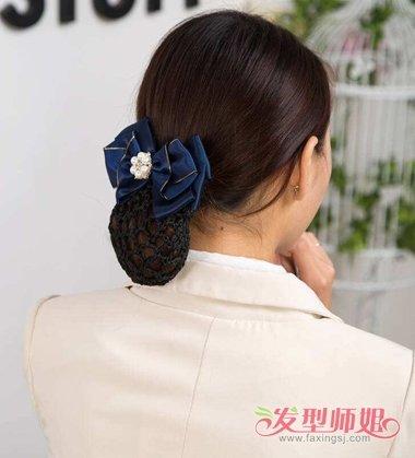 超专业的戴发网盘发教程送给你  有碎发的女孩子,怎么用网兜固定发髻