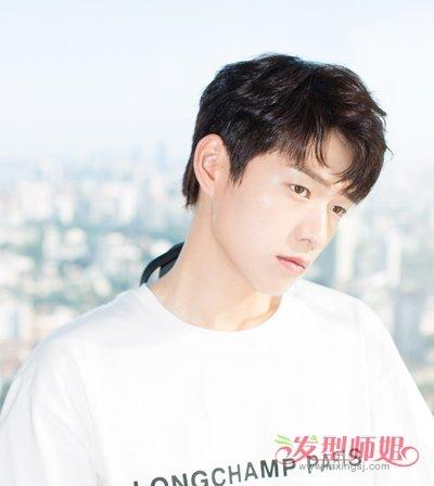 爱心明星刘海短发发型男生帅气烫发图片图片