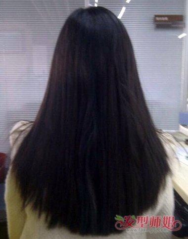 女生发质黑的长 直发发型,不要 刘海的女生长直发发型,就算是没有什么