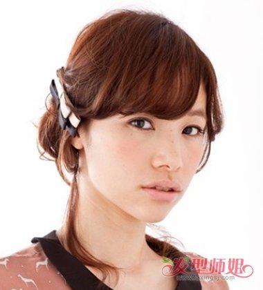 森女系列盘发让你变温婉淑女 清纯可人少女风扎盘发造型系