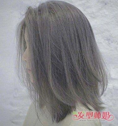 偏分 短发发型拉的比较长,也有很强烈的空气感, 烫发发型就算发量少也图片