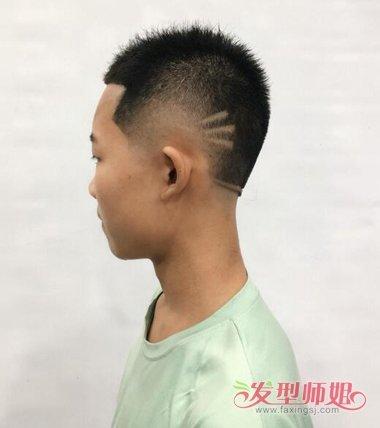 刻痕圆寸短发发型男生后脑女人夏天短烫头发好看吗图片