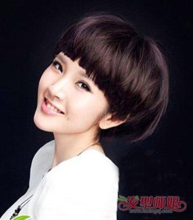 小妹妹精剪可爱齐耳短发学生头 女生剪出的时尚有灵气图片