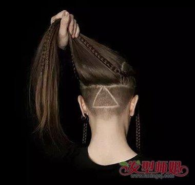 流行发型 非主流 >> 后脑勺头发一不留意剃的太短怎么补救 女生只剪图片
