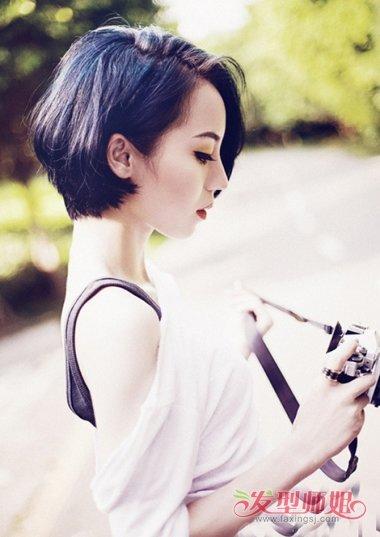 青涩时尚女生修剪及耳短发图片 2019韩国女生剪齐耳短发打满分