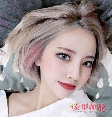女生短头发漂染浅色头发设计