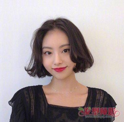 2019年韩式女生最新黑色 短发烫发发型设计图片,已经被小编分享在下文