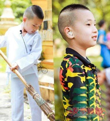 发型设计 儿童发型 >> 小男孩剃可爱寸头发型图片大全 孩子两边剃掉短图片