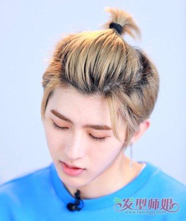 发型diy 短发扎发 >> 你说你头发太短不好扎起来 但男生短发都能扎的
